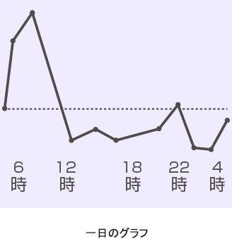 一日のグラフ